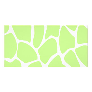 Giraffe Print Pattern in Light Lime Green. Photo Card
