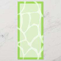 Giraffe Print Pattern in Lime Green.