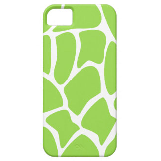 Giraffe Print Pattern in Lime Green. iPhone 5 Case