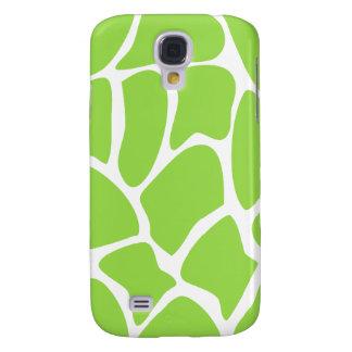 Giraffe Print Pattern in Lime Green. Samsung Galaxy S4 Case