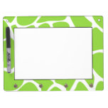 Giraffe Print Pattern in Lime Green. Dry-Erase Whiteboard