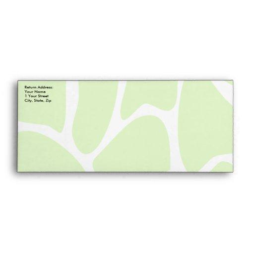 Giraffe Print Pattern in Lime Green. Envelopes