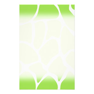 Giraffe Print Pattern in Lime Green. Flyer