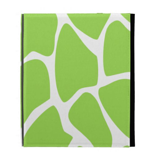 Giraffe Print Pattern in Lime Green. iPad Cases