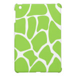 Giraffe Print Pattern in Lime Green. Cover For The iPad Mini