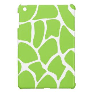 Giraffe Print Pattern in Lime Green. iPad Mini Cases