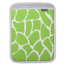 Giraffe Print Pattern in Lime Green. iPad Sleeve