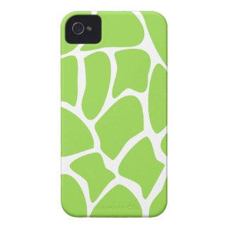 Giraffe Print Pattern in Lime Green. iPhone 4 Case