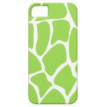 Giraffe Print Pattern in Lime Green. iPhone 5 Case