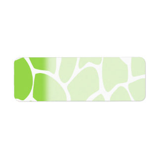 Giraffe Print Pattern in Lime Green. Label