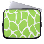 Giraffe Print Pattern in Lime Green. Computer Sleeve