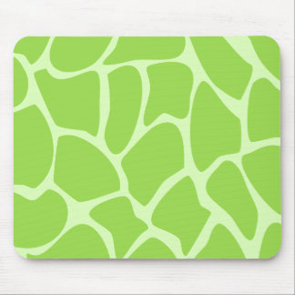 Giraffe Print Pattern in Lime Green. Mouse Pad