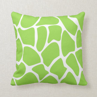 Giraffe Print Pattern in Lime Green. Throw Pillow