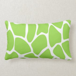 Giraffe Print Pattern in Lime Green. Throw Pillow