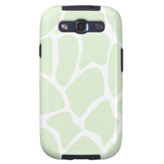 Giraffe Print Pattern in Mint Green. Samsung Galaxy S3 Covers