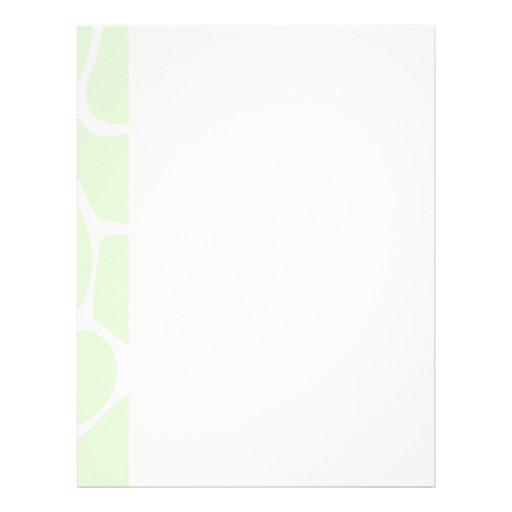 Giraffe Print Pattern in Mint Green. Letterhead Template