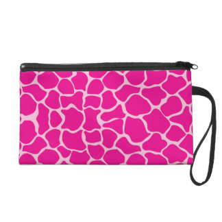 Giraffe Print Pattern in Shades of Pink Wristlets