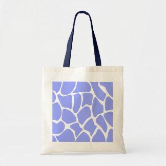Giraffe Print Pattern in Sky Blue Bag