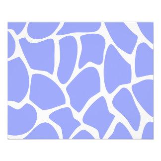 Giraffe Print Pattern in Sky Blue. Flyer