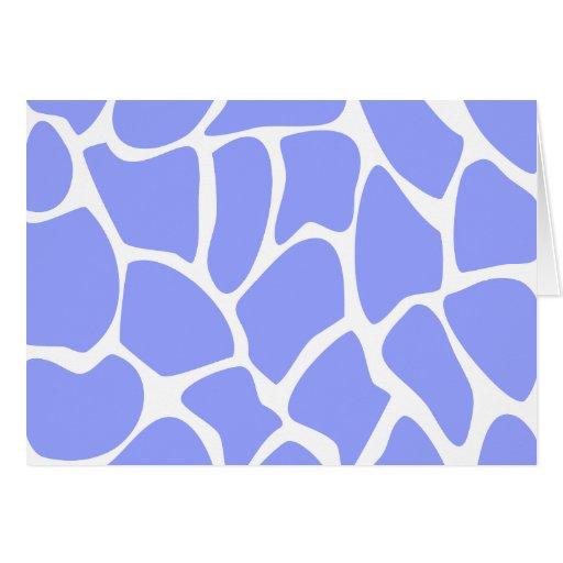 Giraffe Print Pattern in Sky Blue. Greeting Cards