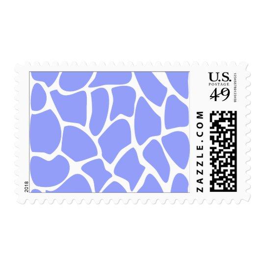 Giraffe Print Pattern in Sky Blue. Postage