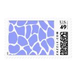Giraffe Print Pattern in Sky Blue. Stamp