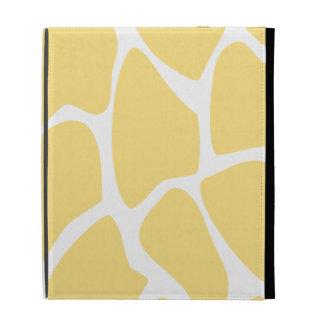 Giraffe Print Pattern in Yellow iPad Folio Covers