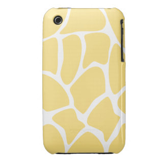 Giraffe Print Pattern in Yellow. iPhone 3 Covers