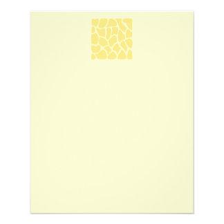 Giraffe Print Pattern in Yellow. Flyers