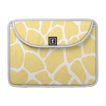 Giraffe Print Pattern in Yellow. MacBook Pro Sleeve