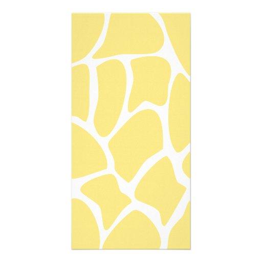Giraffe Print Pattern in Yellow. Photo Card