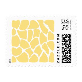 Giraffe Print Pattern in Yellow. Postage