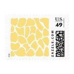 Giraffe Print Pattern in Yellow. Postage Stamp