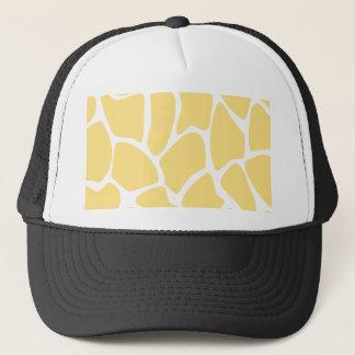 Giraffe Print Pattern in Yellow. Trucker Hat