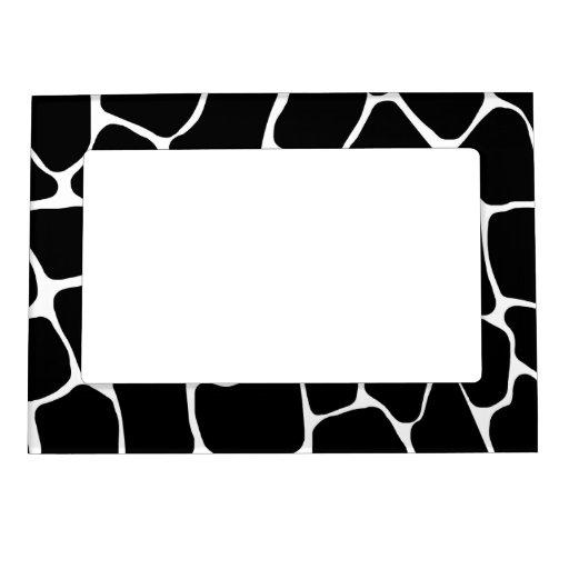 Giraffe Print Pattern Magnetic Frame