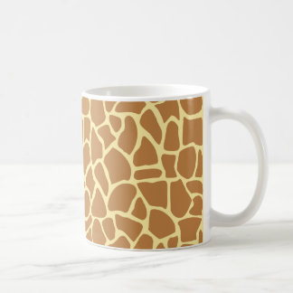 Giraffe Print Pattern. Classic White Coffee Mug