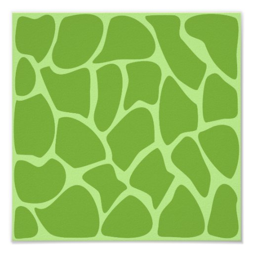 Giraffe Print Pattern. Safari Green.