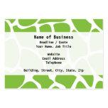 Giraffe Print Pattern. Safari Green. Business Cards