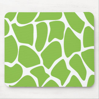 Giraffe Print Pattern. Safari Green. Mouse Pad