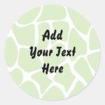 Giraffe Print Pattern. Safari Green. Sticker
