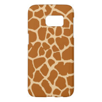 Giraffe Print Pattern Safari Theme Room Decor Samsung Galaxy S7 Case