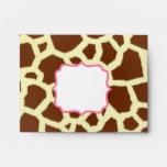 Giraffe Print & Pink Envelope