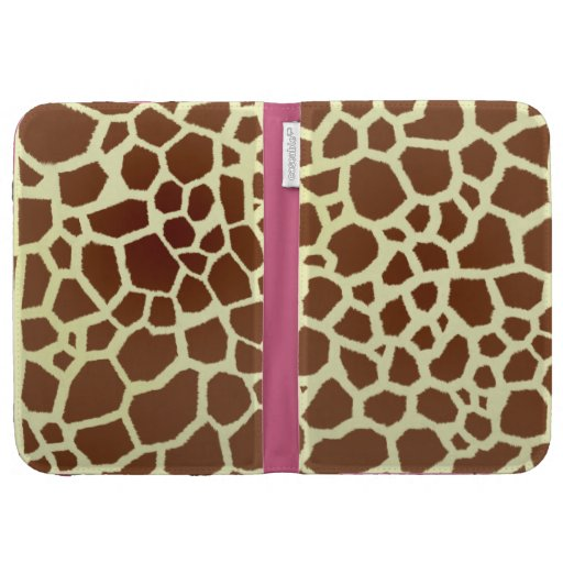 Giraffe Print & Pink Kindle Case