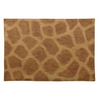 Giraffe Print Placemat Cloth Place Mat