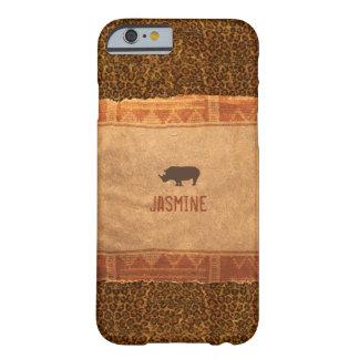 Giraffe Print Rhino African Theme Barely There iPhone 6 Case