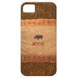 Giraffe Print Rhino African Theme iPhone 5 Case
