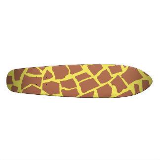 Giraffe Print Skateboard Oldschool