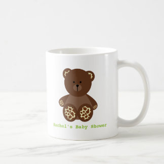 Giraffe Print Stuffed Bear Neutral Baby Shower Coffee Mug