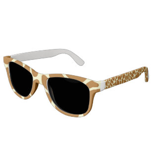 Multiple frame styles and colors available! Giraffe Spots Animal Print Patterned Sunglasses