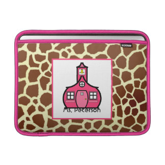 Giraffe Print Teacher Macbook Air Sleeve